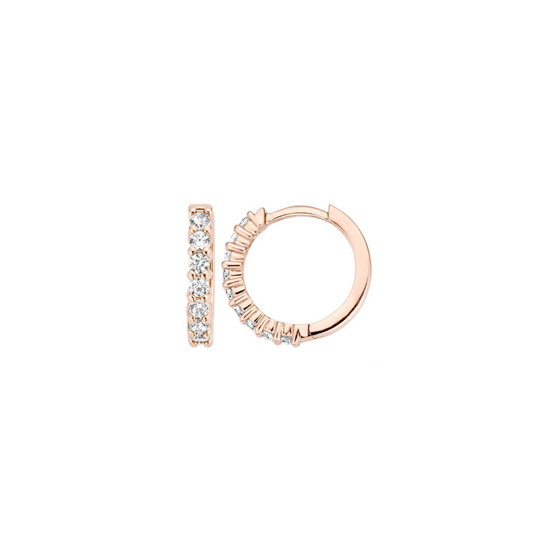 Earrings 7134RZI - Rose Gold  (14Crt.) with Zirconia