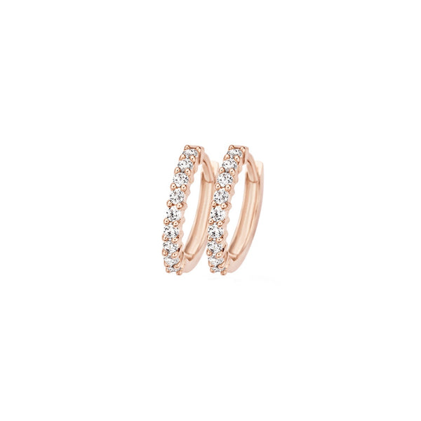 Earrings 7166RZI - Rose Gold (14Crt.) with Zirconia
