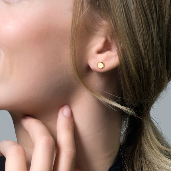 Blush Ear studs 7243YGO - Yellow Gold (14crt.)