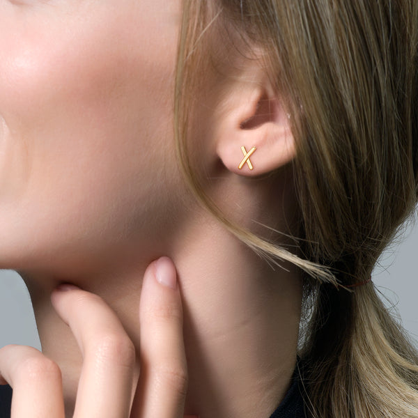 Ear studs 7250YGO - Yellow Gold (14crt.)