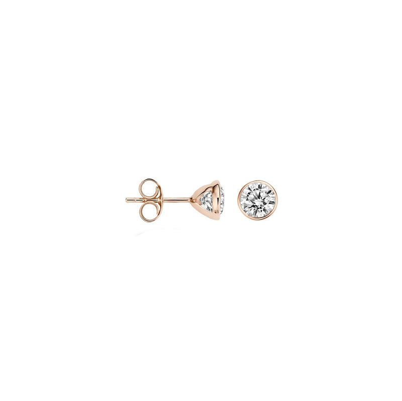 Earstuds 7258RZI - Rose Gold (14Crt.) with Zirconia