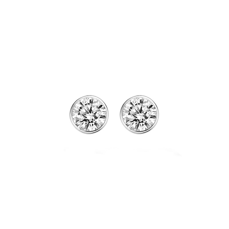Ear studs 7258WZI - White Gold (14Crt.) with Zirconia