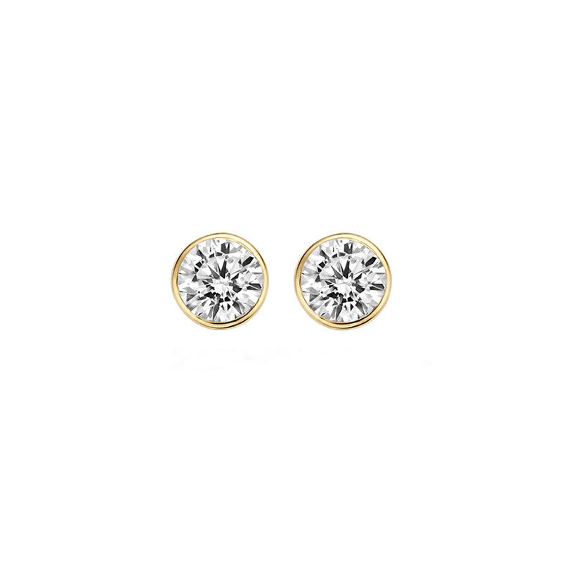Ear studs 7258YZI - Yellow Gold (14Crt.) with Zirconia