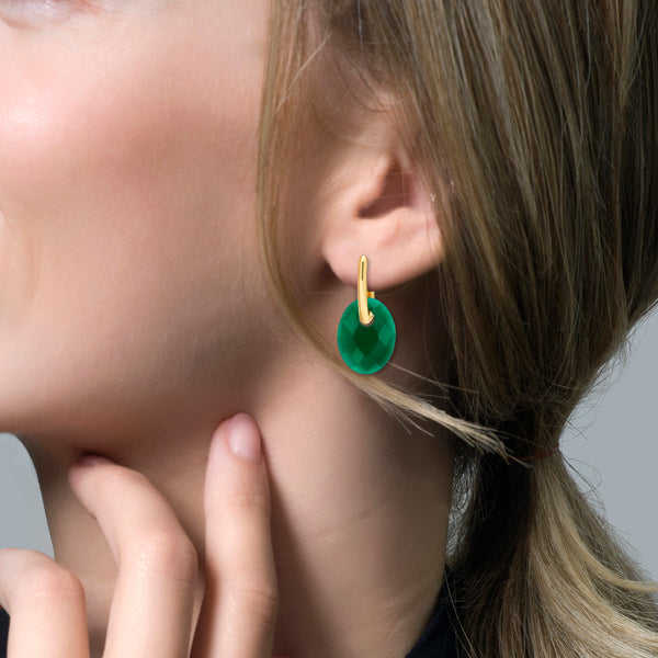 Ear Charm 810GAGO - Green Agate