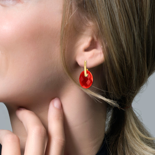 Ear Charm 810RAGO - Red Agate