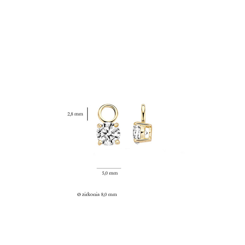 Ear Charms 9045YZI - Gold (14Crt.) with Zirconia