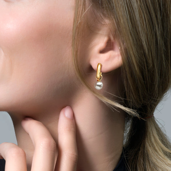 Ear Charms 9046YPW - Gold (14Crt.) with Swarovski Pearl