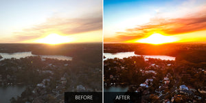 Sunset Colors From Drone - Lightroom - Pilot Presets