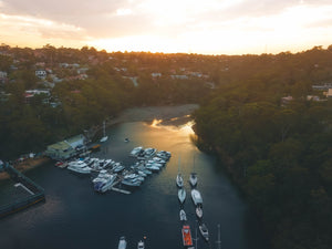 Drone shot of Xtreme Mobile Marine in Sailors Bay, Sydney