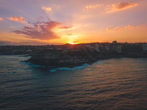 Stock photo of sunset at Mackenzies Point, Sydney
