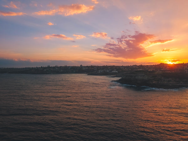 Sydney Sunset Coastal Photo - Mackenzies Point, Tamarama Point, Mackenzies Bay