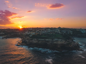 Stock photo of Bondi Bay sunset