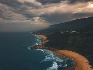 Cape Horn on a stormy day - beautiful stock photo of Australian coastline