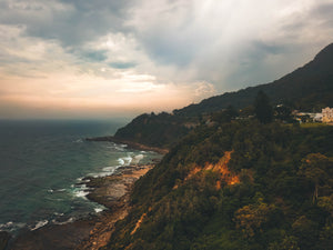 Moody shot of the sunrise at Clifton, NSW - Free Stock Image