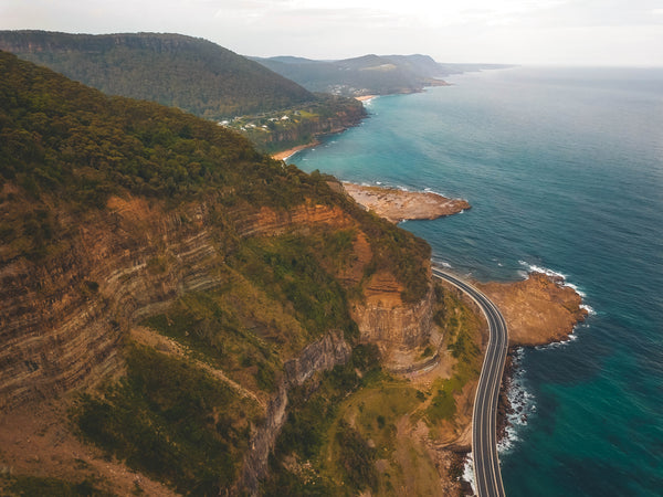 Orange Mountain, Coastline and Sea Cliff Bridge in New South Wales, Australia - Free Stock Photo