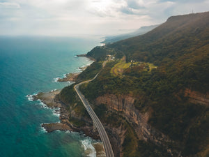 Drone Shot of Sea Cliff Bridge and Australian Coastline - edited with our drone presets