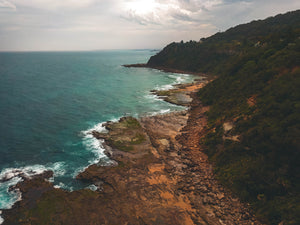 Moody shot of Australian coastline - edited with our Pilot Presets