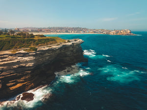Aerial shot of Mackenzies Point and Ben Buckler in the distance - Free Stock Image