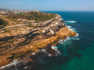 Drone shot of Mackenzies Point and Marks Park Fitness Station in Sydney, Australia