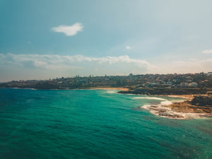 Sydney crystal ocean, Tamarama beach and Bronte beach - Drone shot