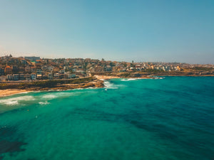 Bronte beach, Bronte Marine Drive, Tamarama Beach, Pacific Ave and Mackenzies Point - Stock Image