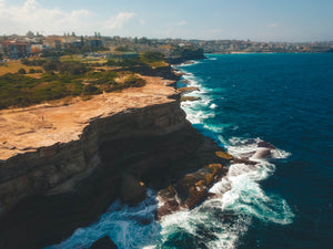 Shark Point Cliff, Burrows Park Sportsfield and Waverley Cemetery - Free Stock Image