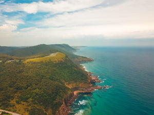 Australian Coastline and Bald Hill View - Stock Photo