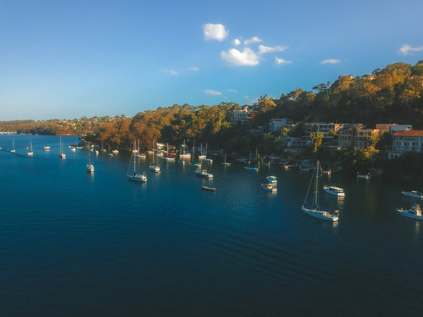 Sailors Bay, Northbridge Sailing Club and Minimbah road - Free Stock Image