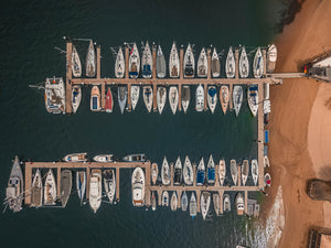 Middle Harbour Yacht Club Marina - Drone Shot - Free Image