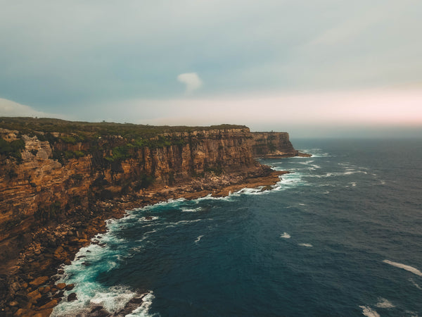 Orange rocks, cliff and sunset in Sydney - Free Image