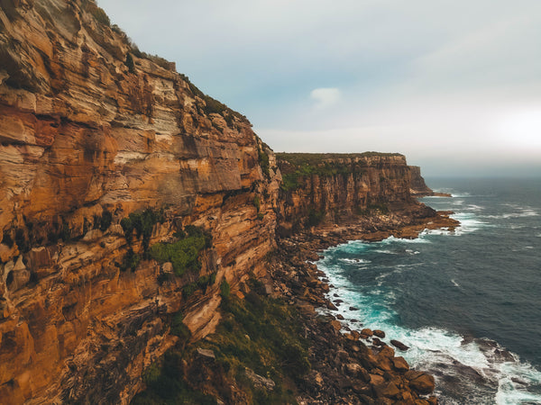 Sydney free stock photo - cliffs, rocks and ocean
