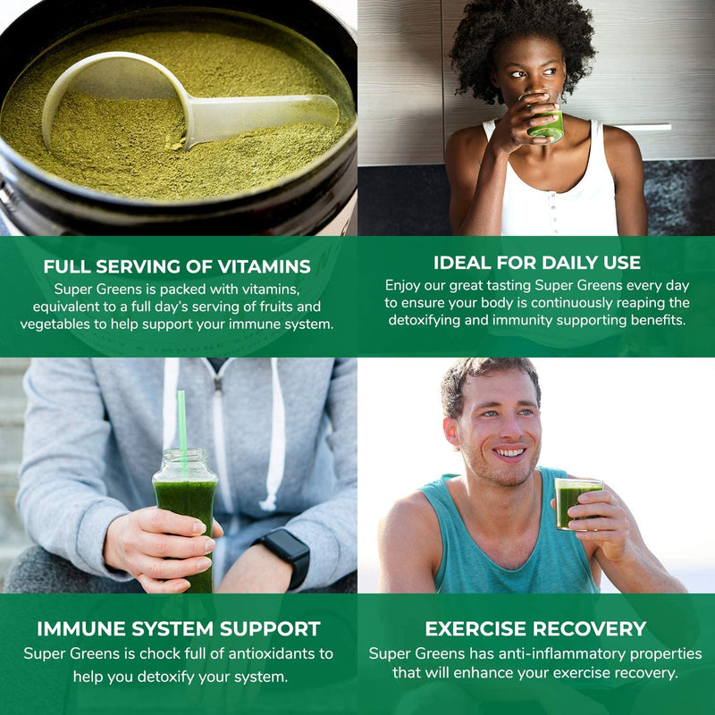 ORGANIC SUPER GREENS - Detoxify & Immune Support