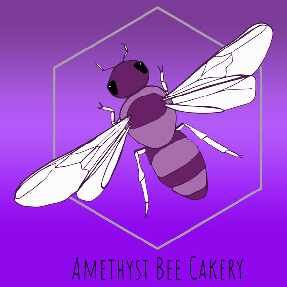 Amethyst Bee Cakery Logo - Black Text