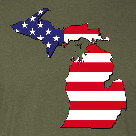 Michigan American Flag