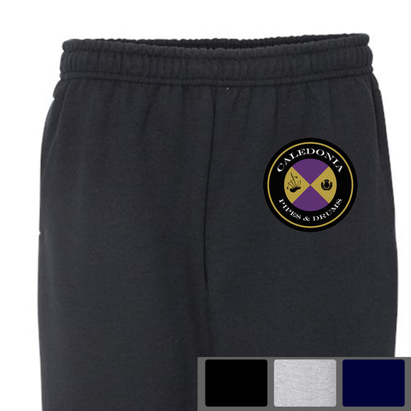 Caledonia Pipes and Drums Logo - Open-Bottom Sweatpants