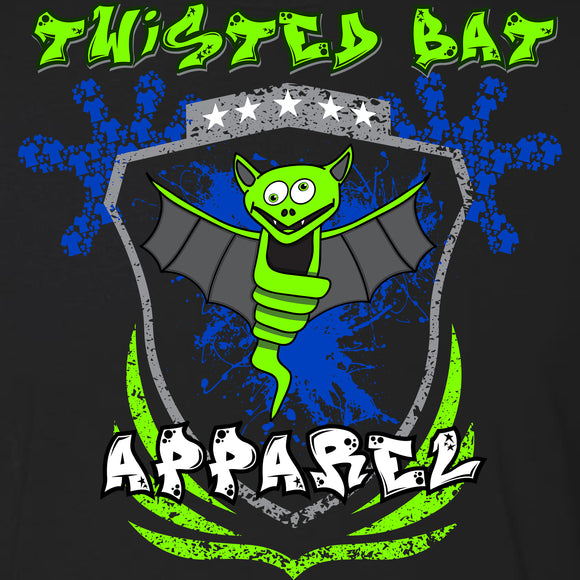 Twisted Bat Blue Splatter