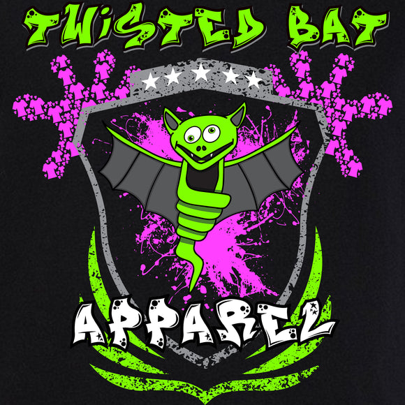 Twisted Bat Pink Splatter