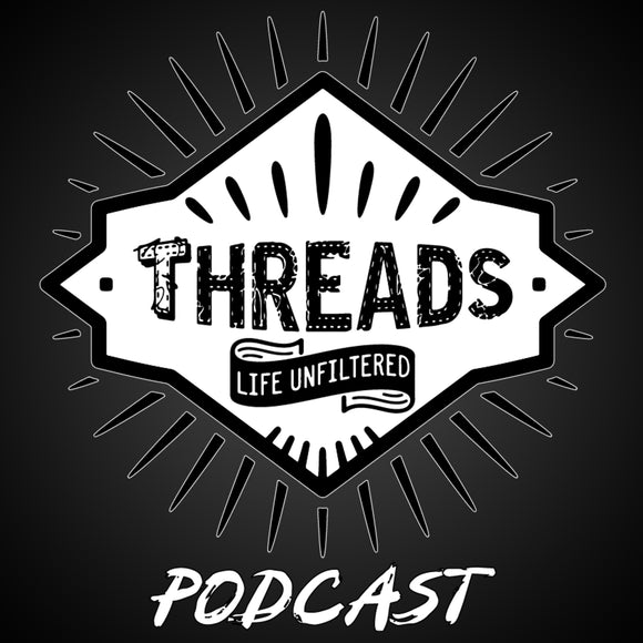 Threads Podcast: White Background Logo