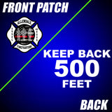 "Allendale Fire: Front Patch / ""Keep 500 Feet Back"" Back"