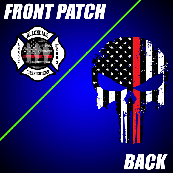 Allendale Fire: Front Patch / Skull Back