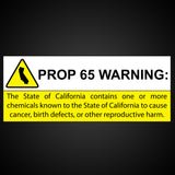 Prop 65: State of California