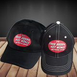 Free Beer and Hot Wings Logo Hat