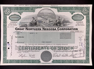 Aandeel Great Northern Nekoosa Corporation - 1981 - World of Maps & Travel
