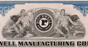 Aandeel Rockwell Manufacturing Company - 1972 -Willard F. Rockwell, Jr as President - World of Maps & Travel