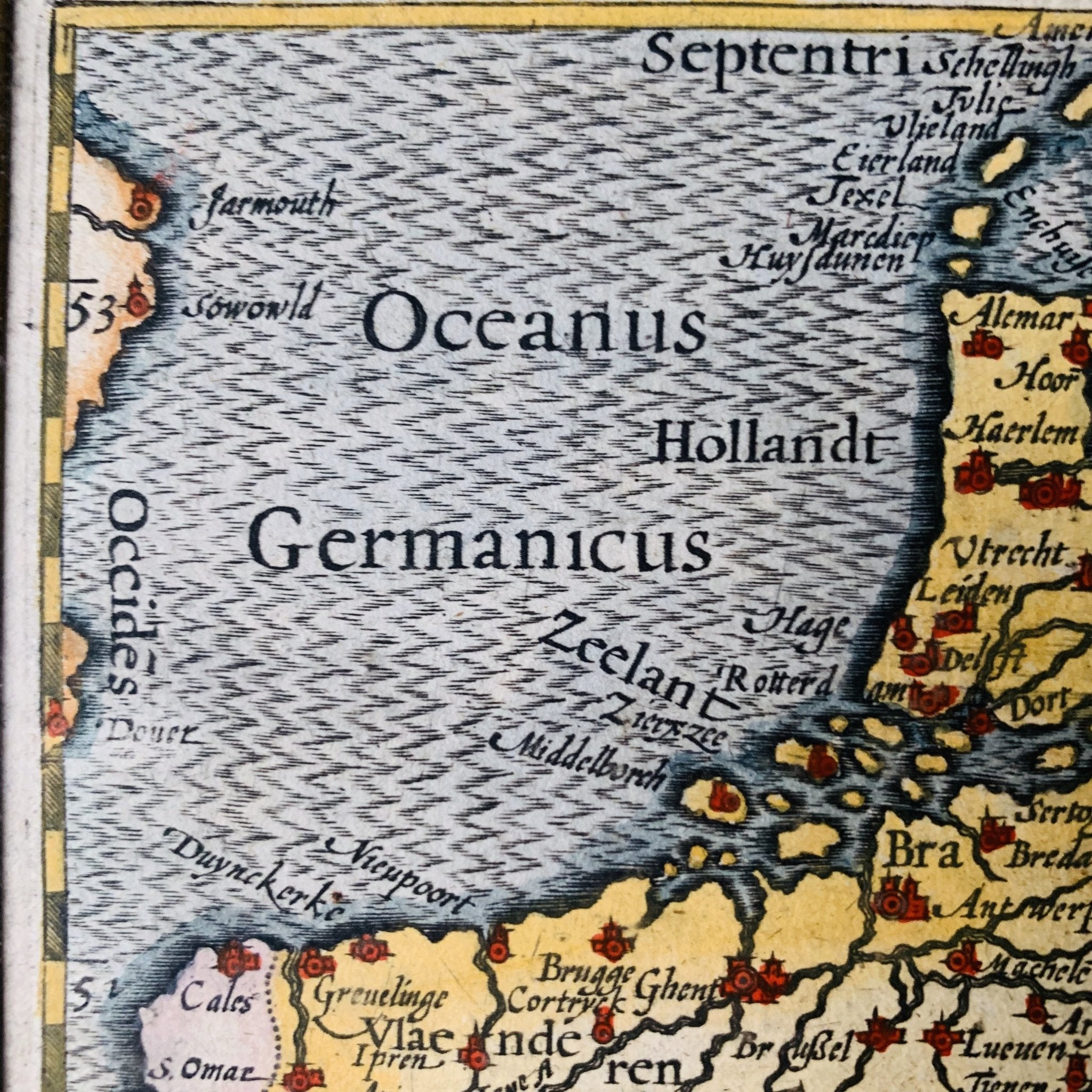 Barent Langenes - Inferior Germania - Lage Landen (Nederland - België) ca. 1598 - World of Maps & Travel