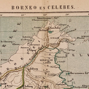 Borneo en Celebes - 1882 - J. Kuijper - World of Maps & Travel