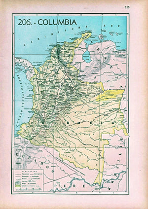 Colombia - 1939 - World of Maps & Travel