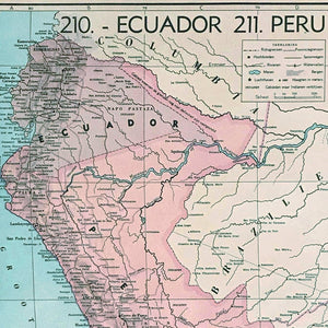 Ecuador & Peru - 1939 - World of Maps & Travel