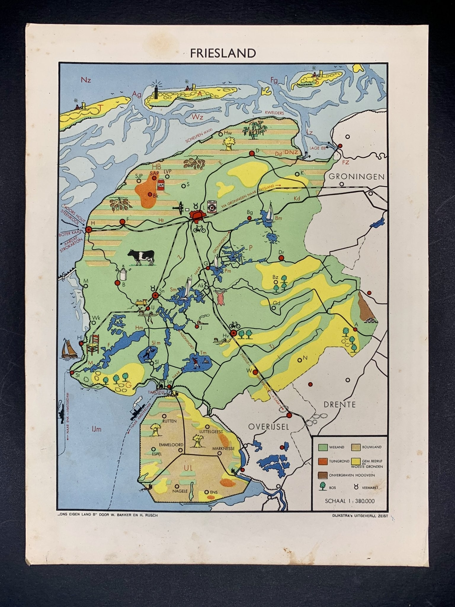 Friesland - 1948 - World of Maps & Travel