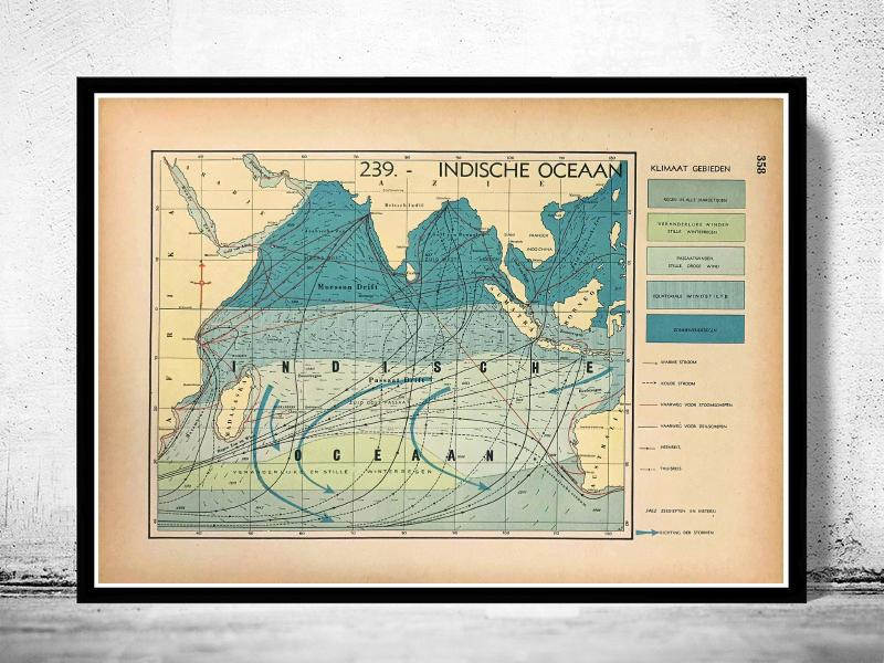 Indische Oceaan - World of Maps & Travel